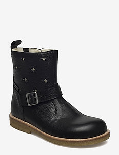 Boots - flat - with zipper - støvler - 2504/1325/1604/001 black/champ
