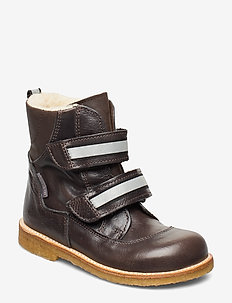 Boots - flat - with velcro - 2632/1660/2022 ANTHRACITE/BROW