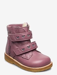 Boots - flat - with velcro - pre-walkers - 2560/2012 plum/reflex
