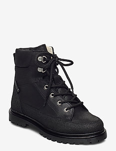 Boots - flat - with lace and zip - winter boots - 1321/2100/1652 black