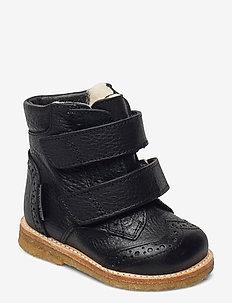 Boots - flat - with velcro - winterlaarzen - 2504 black