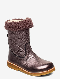 Boots - flat - with zipper - winter boots - 1538/1538/2029 mauve/m/lavende