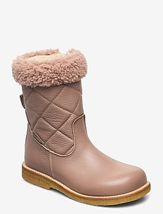 Boots - flat - with zipper - winter boots - 2550/2550/2019 make-up/beige
