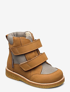 Boots - flat - with velcro - winter boots - 1262/1637 camel/sand