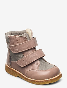 Boots - flat - with velcro - winter boots - 2550/1637 make-up/sand