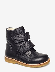 Boots - flat - with velcro - kozaki - 2504 black