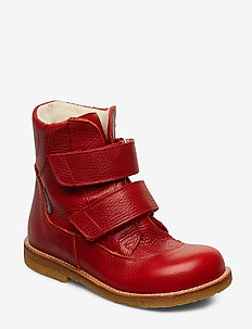 Boots - flat - with velcro - talvikengät - 2510 dusty red