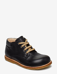 Boots - flat - with laces - 1604 BLACK