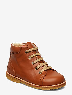 Boots - flat - with laces - pre-walkers - 1431 cognac