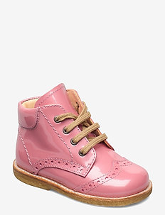 Shoes - flat - with lace - lauflernschuhe - 2389 rose pink