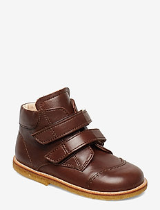 Boots - flat - with velcro - 1562 ANGULUS BROWN