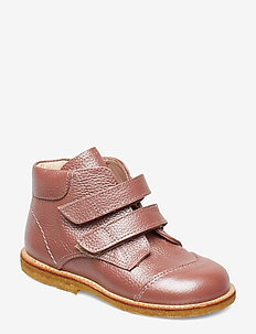 Boots - flat - with velcro - 2636 ROSE SHINE