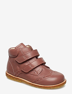 Shoes - flat - with velcro - 1524 PLUM