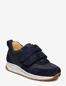 Shoes - flat - with velcro - 2197/1587 NAVY/DARK BLUE