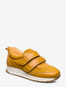 Shoes - flat - with velcro - 2554/2201 OCHER/YELLOW