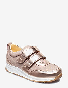 Shoes - flat - with velcro - 1311/2490 ROSE COPPER/POWDER L