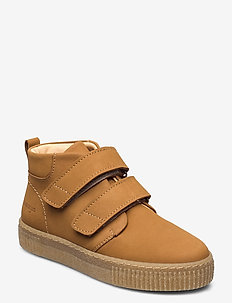 Shoes - flat - with velcro - winter boots - 1262 camel