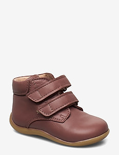 Boots - flat - with velcro - pre-walkers - 1524 plum