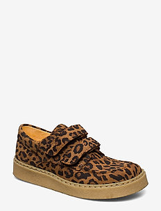 Shoes - flat - with velcro - 2164 LEOPARD