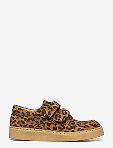 Shoes - flat - with velcro - lave sneakers - 2164 leopard