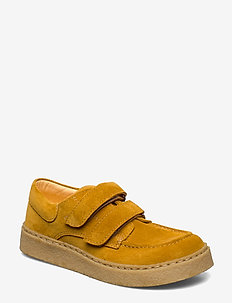 Shoes - flat - with velcro - 2201 YELLOW