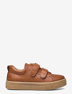 Shoes - flat - with velcro - lave sneakers - 1545 cognac