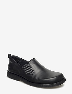 Shoes - flat - with elastic - flade sko - 1604/001 black/black