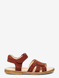 Sandals - flat - open toe - op - sandaler - 2208 rust