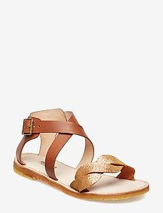 Sandals - flat - open toe - op - sandals - 2494/1789 copper/tan
