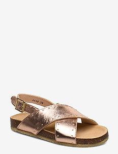 Sandals - flat - open toe - op - 1311 ROSE COPPER