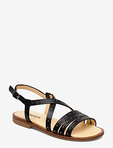 Sandals - flat - open toe - op - 1785 BLACK