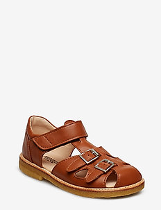 Sandal with two buckles in front - 1431 COGNAC