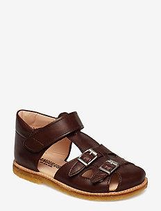Sandals - flat - sandalen - 1562 angulus brown