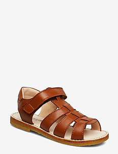 Sandals - flat - open toe - op - sandals - 1431 cognac
