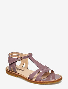 Sandal with leather sole - 1391 DUSTY FUCHSIA