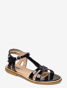 Sandal with leather sole - flade sandaler - 2320 black
