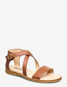 5442 - flade sandaler - 1789 tan