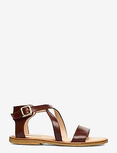 5442 - platta sandaler - 1837 brown
