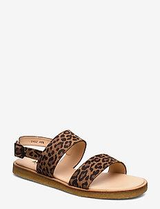 5452 - flade sandaler - 2164 leopard