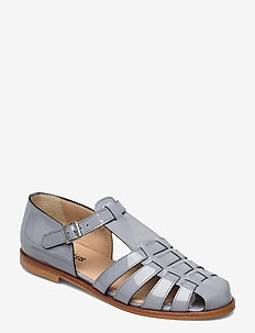 Sandals - flat - closed toe - op - flade sandaler - 2350 greyblue