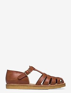 Sandals - flat - closed toe - op - flache sandalen - 1789 tan