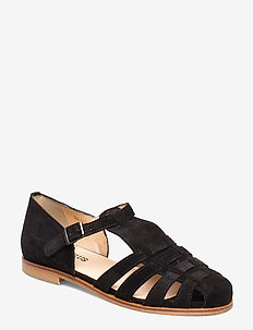 Sandals - flat - closed toe - op - sandales - 1163 black