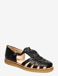 Sandals - flat - closed toe - op - flade sandaler - 1604 black