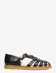 Sandals - flat - closed toe - op - platta sandaler - 1604 black