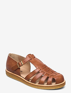 Sandals - flat - closed toe - op - flade sandaler - 1789 tan