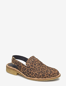 Shoes - flat - with lace - 2164 LEOPARD