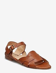 Sandals - flat - płaskie sandały - 1789 tan