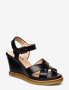 Sandals - wedge - kilehæl - 1835 black