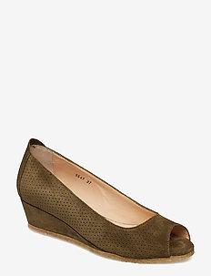 Sandals - flat - open toe - clo - 2196 OLIVE