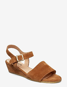 Sandals - flat - open toe - clo - kilehæl - 1168 tan